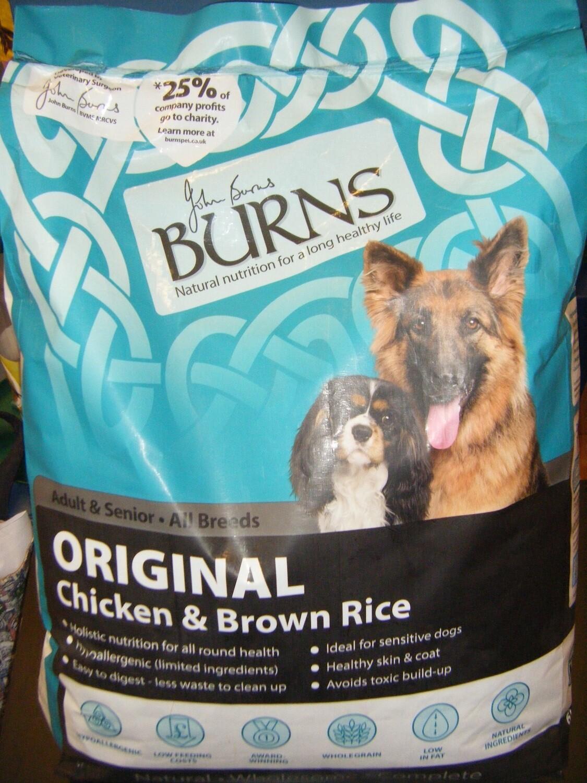 BURNS Chicken/Rice - Adult - 2KG