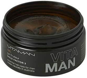 'VITAMAN - Natural Men's Grooming- Styling Gel For Fine / Thinning Hair Strong but light - gives volume and texture - for men with thinning/fine hair.