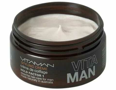 'VITAMAN - Natural Men's Grooming- Natural Hair Styling Crème For men with fine hair - adds volume and smoothes out curls.
