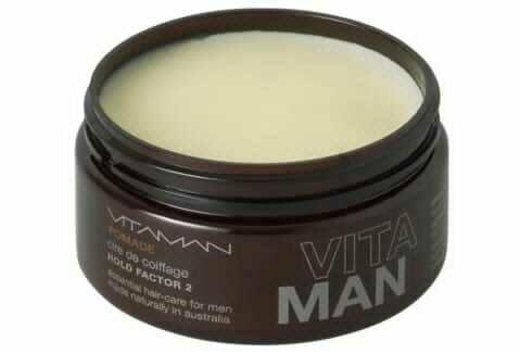 'VITAMAN - Natural Men's Grooming- Natural Hair Pomade (Slick-Back Look) For the classic no fuss Don Draper look - great for gray hair.