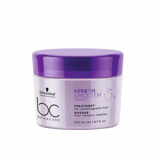 Schwarzkopf BC Keratin Smooth Perfect Treatment Mask 200ml Schwarzkopf BC Keratin Smooth Perfect Treatment Mask is a hair treatment that helps to improve the manageability of frizzy, unruly and thick