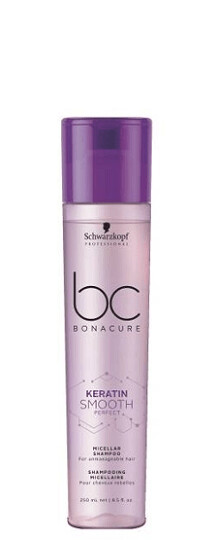 Schwarzkopf BC Keratin Smooth Perfect Micellar Shampoo 250ml Schwarzkopf BC Keratin Smooth Perfect Micellar Shampoo is a smart formula that tames and softens unruly and frizzy hair, that can be also w