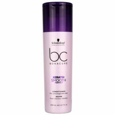 Schwarzkopf BC Keratin Smooth Perfect Conditioner 200ml Schwarzkopf BC Keratin Smooth Perfect Conditioner is a hair conditioner that improves manageability of frizzy, unruly, wavy or curly hair all th