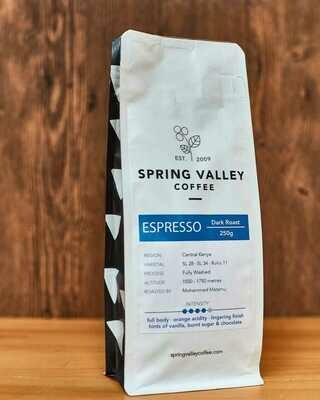 Spring Valley Espresso, dark roast