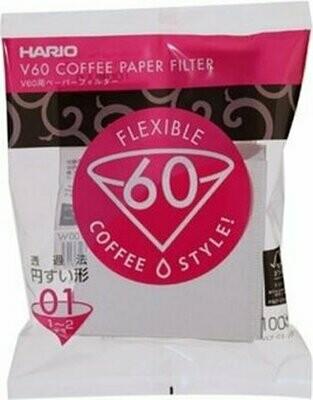 Hario Koffiefilters V60 01 - kegelvormig
