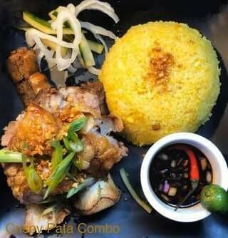 Crispy Pata (pork hocks) with Java Rice