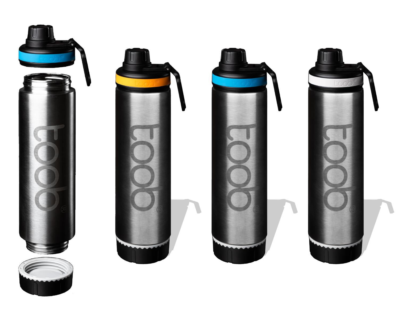 Open Ended Water Bottle & Insulating Neoprene Sleeve