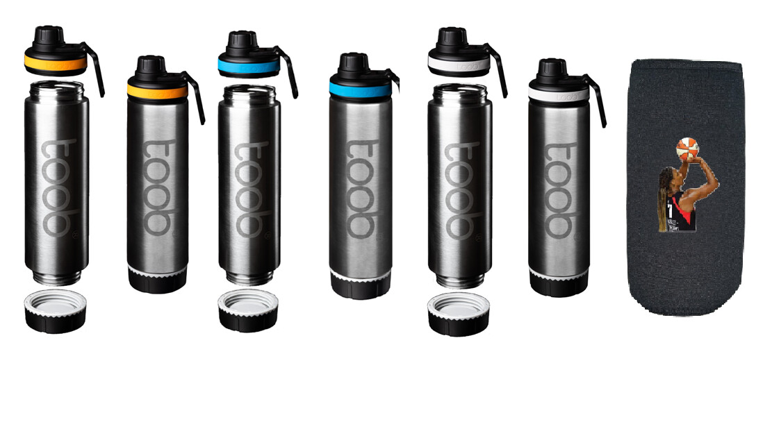 Open Ended Water Bottle with Avery Warley-Talbert Insulating Neoprene Sleeve