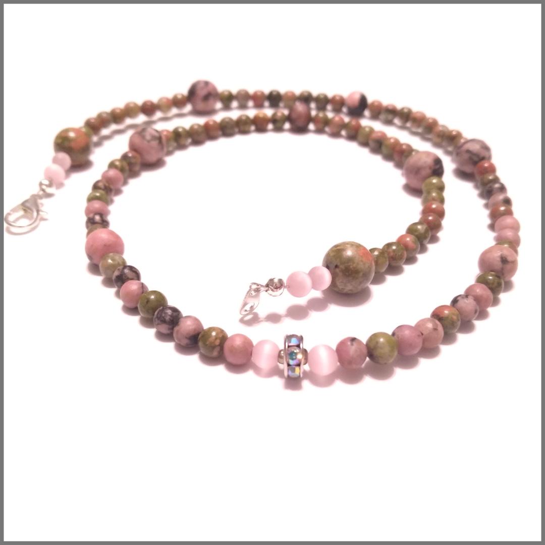 Rhodonite Beaded Necklace