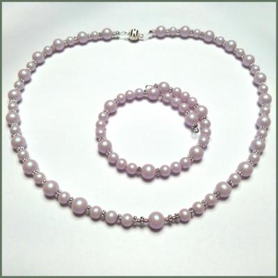 Swarovski Dreamy Rose Pearl Necklace