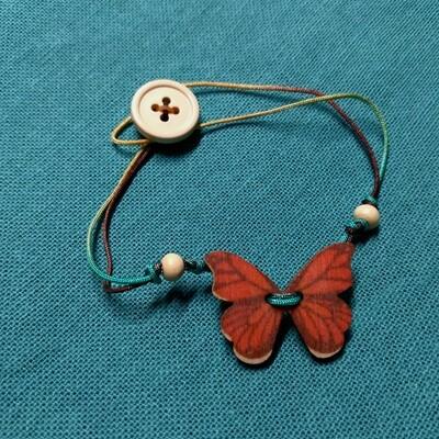 Button Bracelets - Butterflies