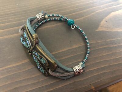 Blue Dragonfly Bracelet