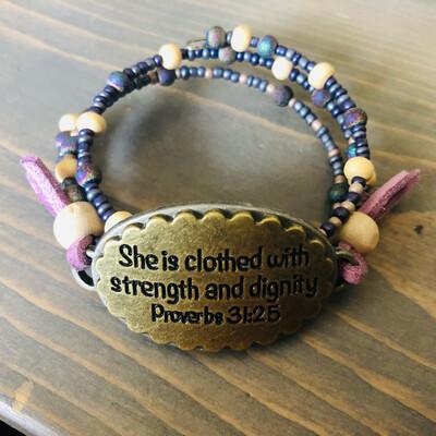 She is Clothed Bracelet