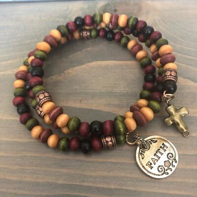 Wooden Faith Bracelet