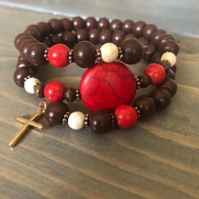 Red Howlite Bracelet