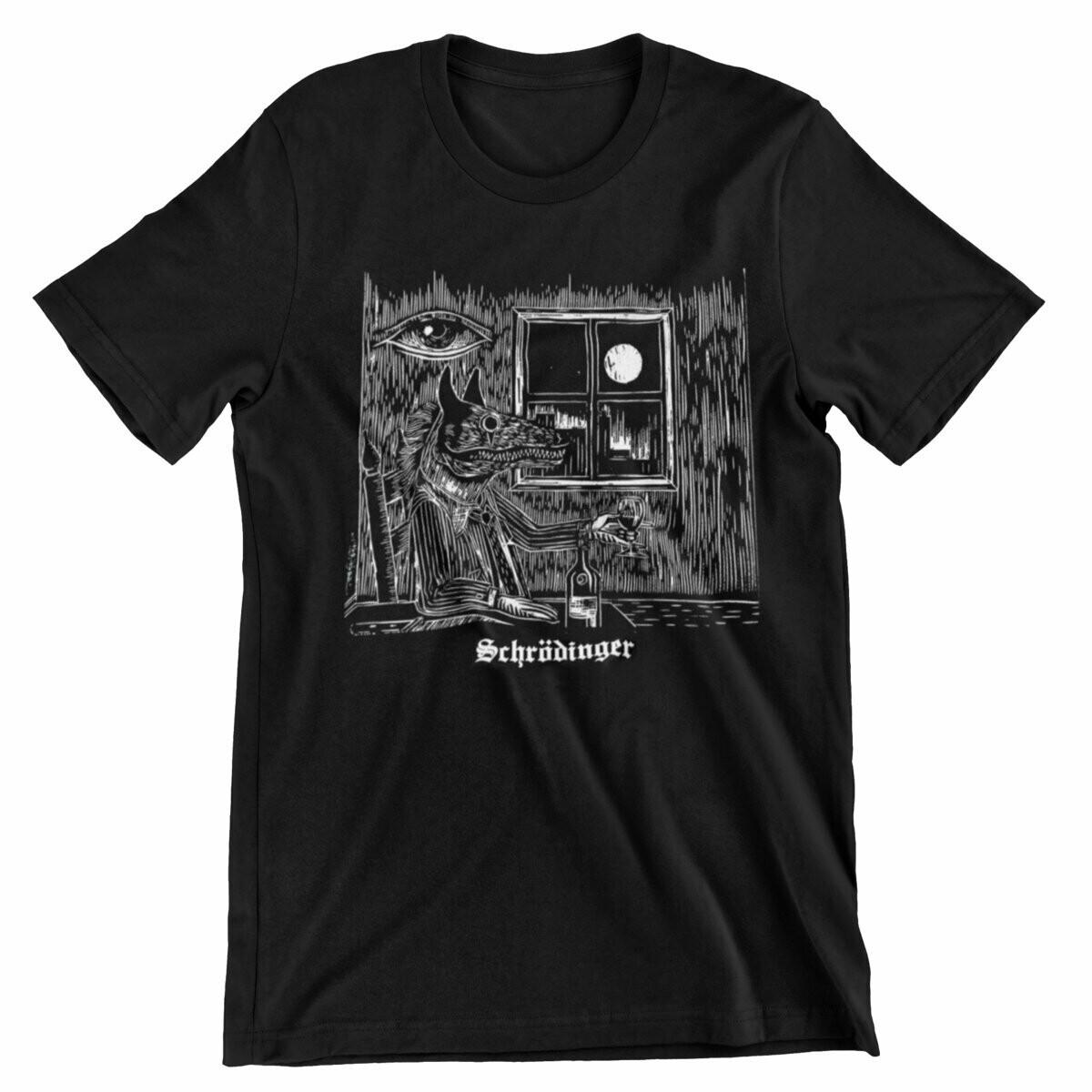 Schrodinger Cover Design Wolf T-Shirt