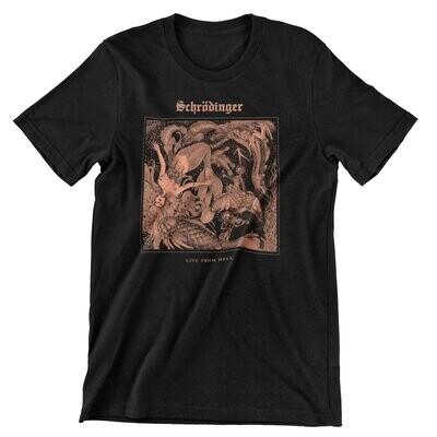"""Schrödinger """"Live From Hell"""" T-Shirt"""