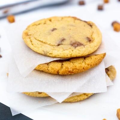 Chocolate Caramel Nougat Cookies