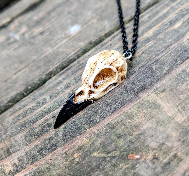 Raven Skull Pendant