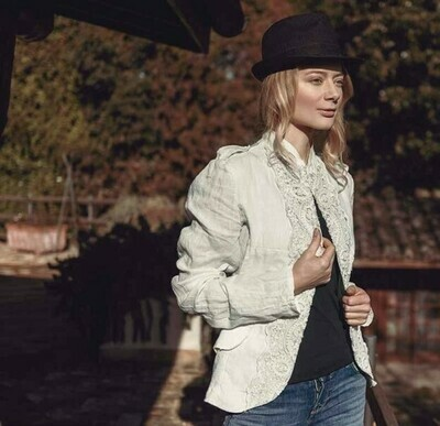 Linen and Lace Cardigan: