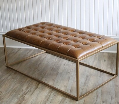 Leather Ottoman Table