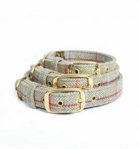 Traditional Tweed Dog Collar   Size Small