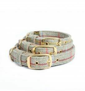Traditional Tweed Dog Collar  Size M