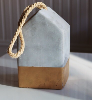 Cement House Decoration with Gold Detail
