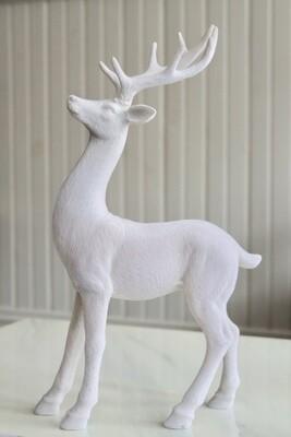 Soft White Deer Decoration