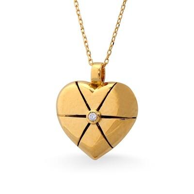 MYSTERY YELLOW GOLD PENDANT & DIAMOND