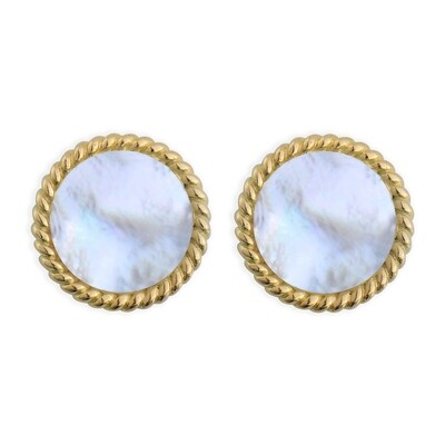 ELINA YELLOW GOLD EARRINGS & MOTHER OF PEARL