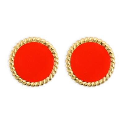 ELINA YELLOW GOLD EARRINGS & CORAL