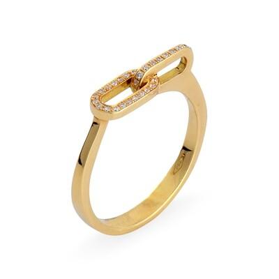 LIENS YELLOW GOLD & DIAMOND RING