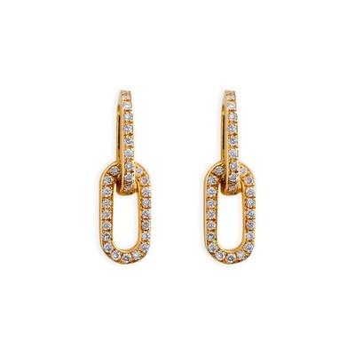 LIENS YELLOW GOLD & DIAMOND EARRING