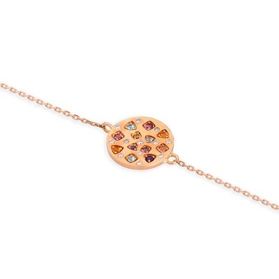 ANDRA PINK GOLD, DIAMOND & SAPPHIRE BRACELET