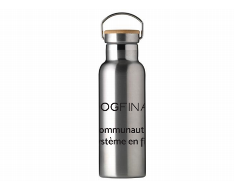 Bouteille isotherme inox vintage