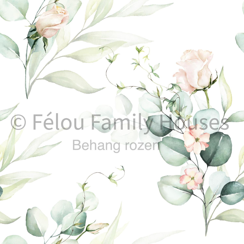 Wallpaper Dollhouse Roses