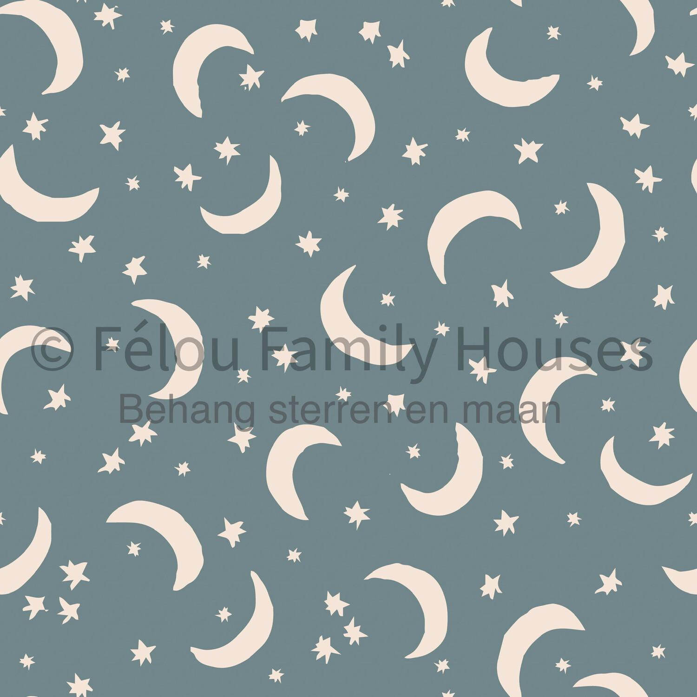 Wallpaper Dollhouse Moon & Stars