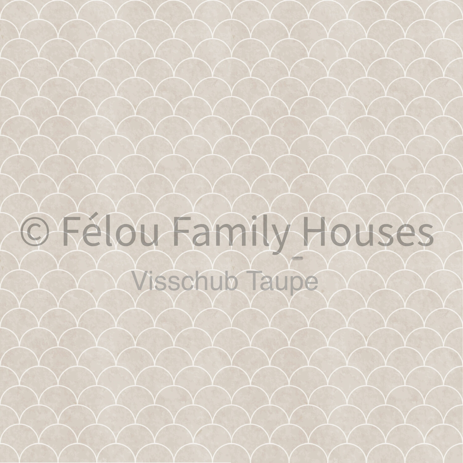 Wallpaper Dollhouse Fish Scale Taupe