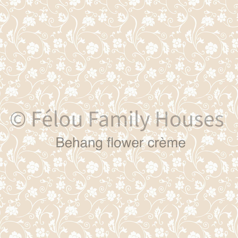 Wallpaper Dollhouse Flower Cream