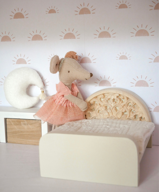 Wallpaper Dollhouse Pink Morning