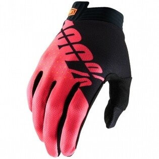 100% GLOVE BLACK/FLUO RED TAGLIA L