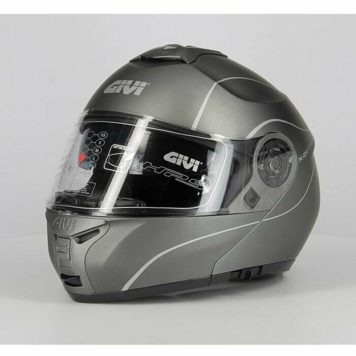 casco Modulare Givi X21 P/j Challenger Titanio Opaco TG 60/L