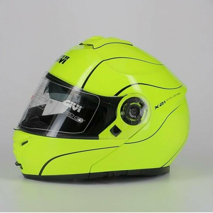 casco Modulare Givi X21 P/j Challenger Giallo Fluo TG XL/61