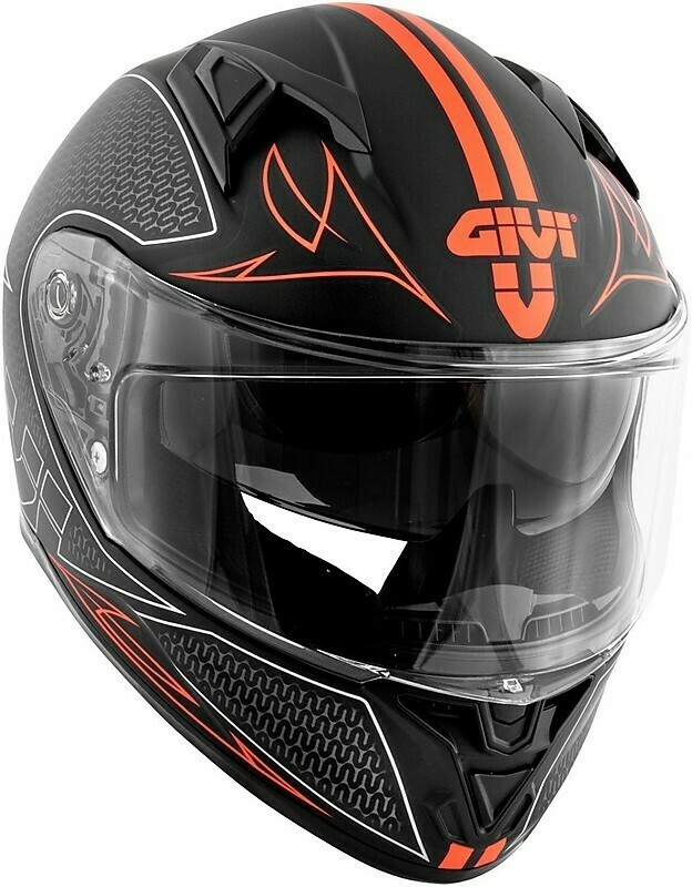 Casco Moto Integrale Givi 50.6 STOCCARDA SPLINTER Nero Opaco Giallo RG 58/M
