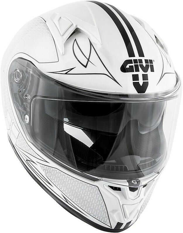 Casco Moto Integrale Givi 50.6 STOCCARDA SPLINTER Bianco Nero Lucido TG 56/S