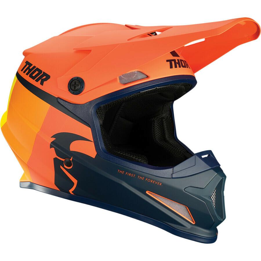 THOR SECTOR RACER ORANGE/MIDNIGHT HELMET Taglia L