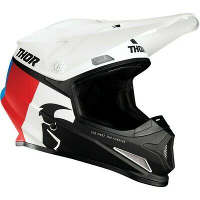 THOR SECTOR RACER WHITE/RED/BLUE HELMET Taglia S