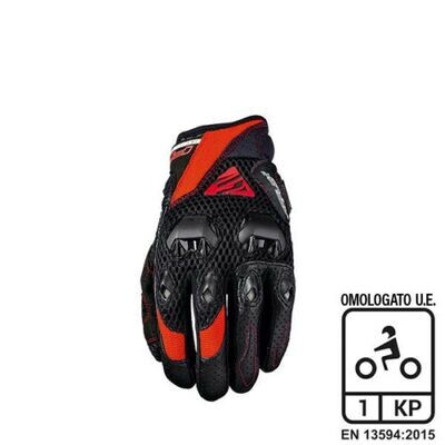 Guanti FiveGloves StuntEvo Airflow Black/Red XL