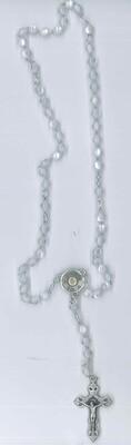 Corona Carlo Acutis imitazione madre perla con immagine